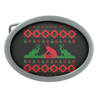 Hässliches Weihnachtsbier Ovale Gürtelschnallen