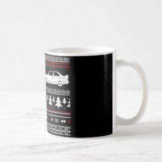 Hässliches Weihnachtseuropäische Sport-Auto-Tasse Tasse