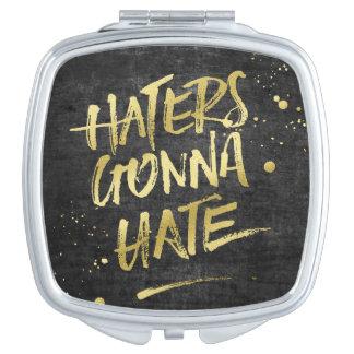 Haters, die gehen, GoldGlittergrunge-Tafel zu Schminkspiegel