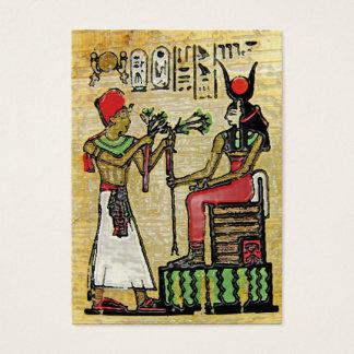 Hathor, ägyptische Göttin, Platane-Niederlassung Visitenkarte