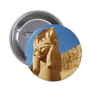 Hathor - Göttin der Liebe und der Musik, ÄGYPTEN Runder Button 5,7 Cm