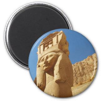 Hathor - Göttin der Liebe und der Musik, ÄGYPTEN Runder Magnet 5,1 Cm