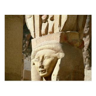 Hathor-köpfige Spalte, von der Kapelle von Postkarte