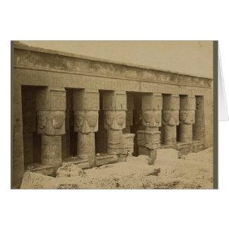 Hathor Tempel, Ägypten circa 1867 Grußkarte