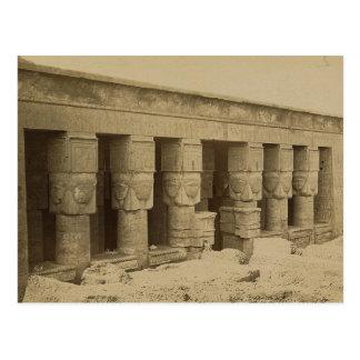 Hathor Tempel, Ägypten circa 1867 Postkarte