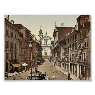 Hauptgasse, Solothurn, die Schweiz Vintages Photoc Poster