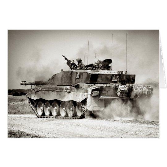 Hauptpanzer des britische Armee-Herausforderer-2 Grußkarte