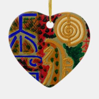HauptReikiHealingArt Symbol Keramik Herz-Ornament
