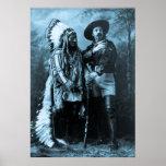 Hauptsitting Bull und Buffalo Bill Plakatdrucke