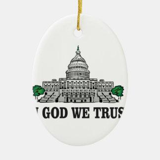 Hauptstadt im Gott, den wir vertrauen Keramik Ornament