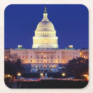 Hauptstadt Washington DCs Vereinigte Staaten an Rechteckiger Pappuntersetzer