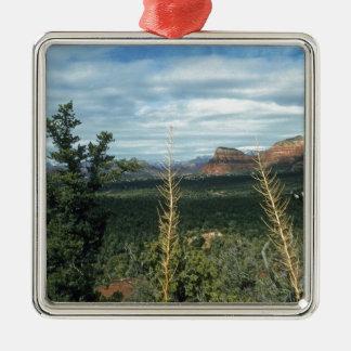 HauptstadtButte Sedona Arizona Silbernes Ornament
