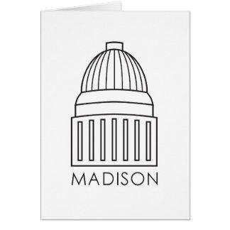 Hauptstadts-Gebäude Madisons Wisconsin Grußkarte