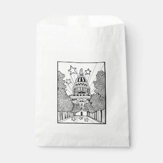 Hauptstadts-Gebäude-Texas-Linie Kunst-Entwurf Geschenktütchen