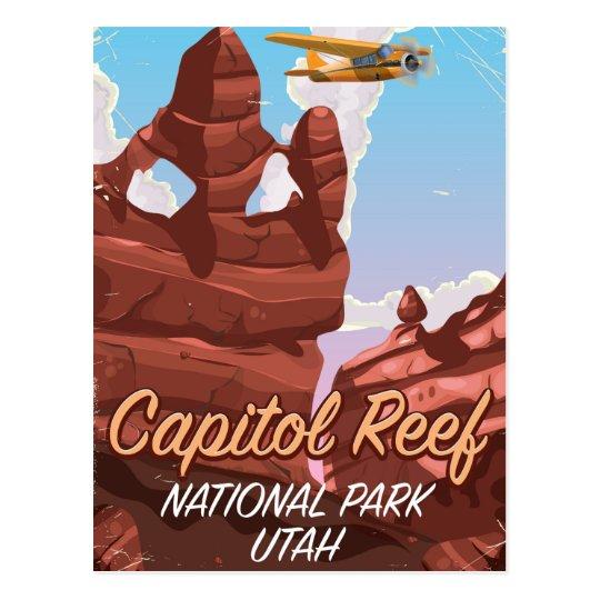 Hauptstadts-Riff-Nationalpark-Reiseplakat Postkarte