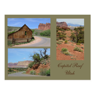 Hauptstadts-Riff-Utah-Foto-Schablonen-Karte Postkarte