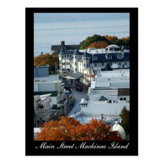 Hauptstraße Mackinac Insel - Postkarte