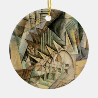 Hauptverkehrszeit, New York durch maximalen Weber, Rundes Keramik Ornament
