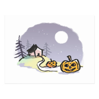 Haus auf Spuk Hügel-Postkarte Postkarte