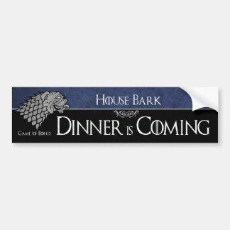Haus-Barke - Abendessen kommt Autoaufkleber