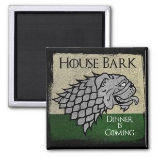 Haus-Barke - Abendessen kommt Quadratischer Magnet