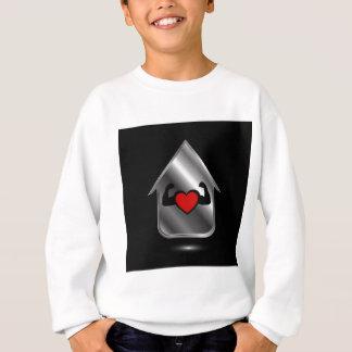 Haus mit einem gesunden Herzen Sweatshirt