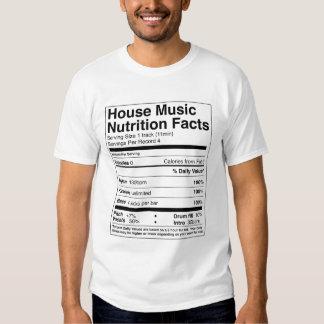 """Haus-Musik Nutrtion Tatsachen-"" T-Stück Tshirts"