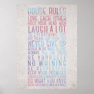 Haus-Regeln Poster