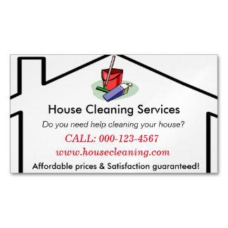 Haus-Reinigung hält Visitenkarte-Schablone instand Visitenkartenmagnet