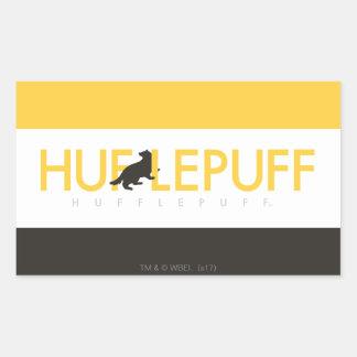 Haus-Stolz-Logo Harry Potters | Hufflepuff Rechteckiger Aufkleber