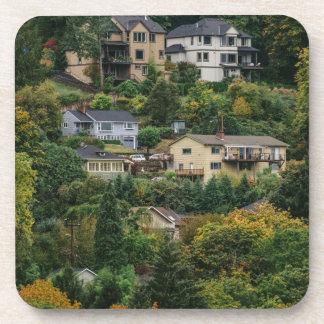 Häuser auf dem Hügel Untersetzer