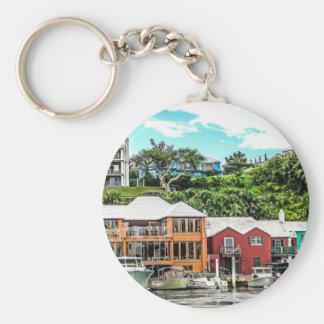 Häuser nähern sich Hamilton Schlüsselanhänger