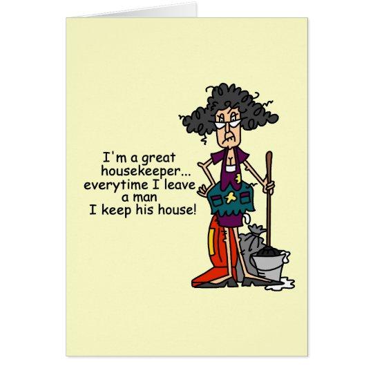 Haushälterin-Spaß Grußkarte