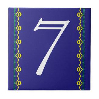 Hausnummer-Fliese Kleine Quadratische Fliese