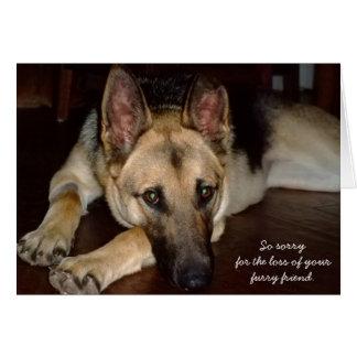 Haustier-Beileidskarte Schäferhund-Rettung Mitteilungskarte