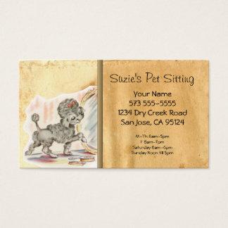 Haustier, das Vintage Katzen-Geschäfts-Karte sitzt Visitenkarte