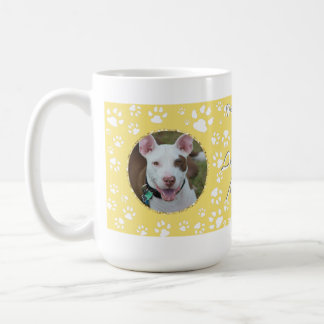 Haustier-Denkmal Ihr HundeFoto-Gelb Kaffeetasse