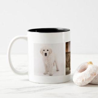 Haustier-Foto personalisiert Zweifarbige Tasse