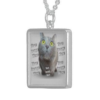 Haustier-Foto-Schablone Sterling Silberkette
