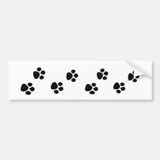 Haustier-Hundeinhaber-Tatze druckt Autoaufkleber