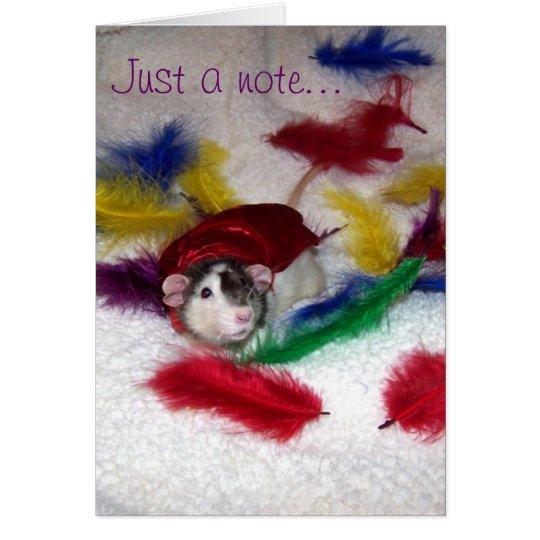 Haustier-Ratte Oreo Anmerkungs-Karte Mitteilungskarte