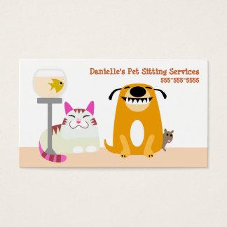 Haustier-sitzende Dienstleistungen Visitenkarte