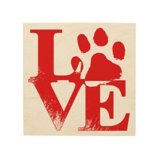 Haustier-Tatzescottsdale-Liebe-Zeichen-hölzerne Holzdruck