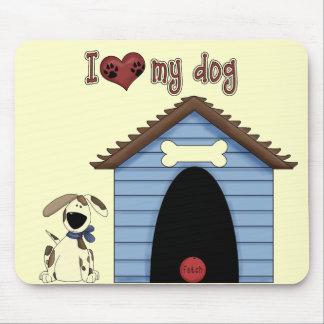 Haustier-Thema-Hund, Haus, Ball, Spaß Mousepad