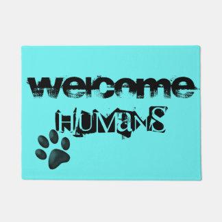 Haustiere. willkommene Menschen Türmatte