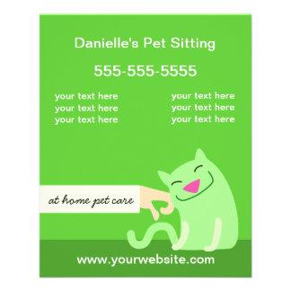 Haustierpflege-Flyer-Petting Katzengrün Flyer