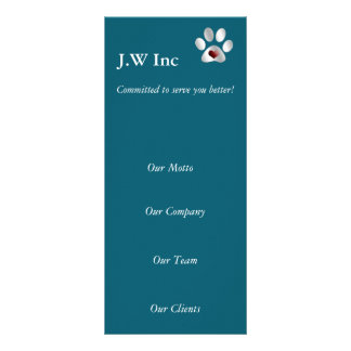 Haustierpflege Geschäfts-Gestell Karten Bedruckte Werbekarten