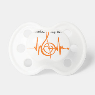 HAUT MUSIC Musikalisches HEART BEAT des Herzens Baby Schnuller