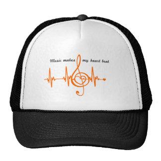 HAUT MUSIC Musikalisches HEART BEAT des Herzens Netz Caps