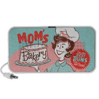 Haut-parleur de la boulangerie de la maman rétro